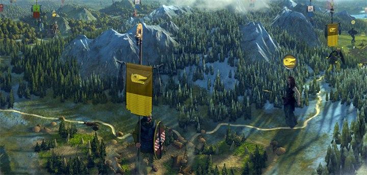 Total War: Rome 2 - панорамный скриншот карты кампании с видом на варварские земли