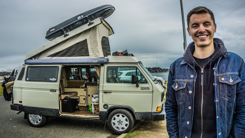 VAN LIFE TOUR : Solo Adventurer Lives Full time In Vanagon To Save Rent and Enjoy Life.