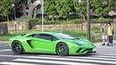 Supercars sound in Tokyo Many AventadorS