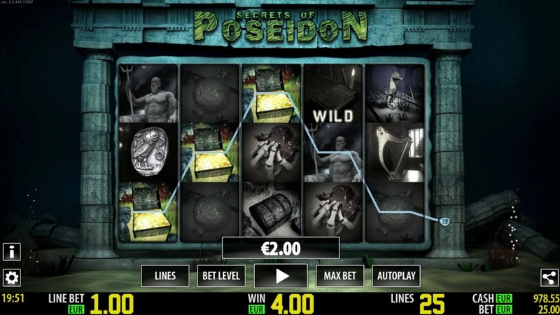 Slot Machine Secrets Of Poseidon WUKONG88