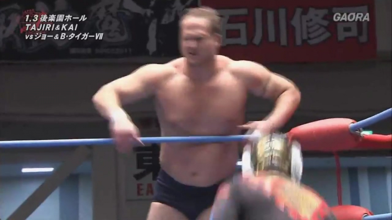 Black Tiger, Joe Doering vs. KAI, TAJIRI (AJPW - New Year Wars 2018 - Day 2)