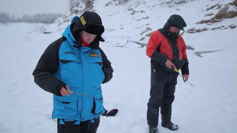 Ловля КРУПНОГО окуня зимой! Испытание зимних костюмов Аляскан и Новатур в Сибири