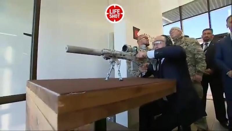Путин и винтовка СВЧ-308. Сейчас начнется чей-то вой.