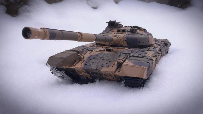 Танк на Радиоуправлении Т 90 Heng Long Обзор Тест по Снегу