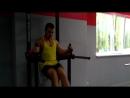 Подъем ног в висе 20 раз прямыми + 20 раз согнутыми в коленях!