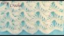 Como tejer con Gancho Crochet encaje ondas caladas 3D para cobijitas de bebe tejido tallermanualperu