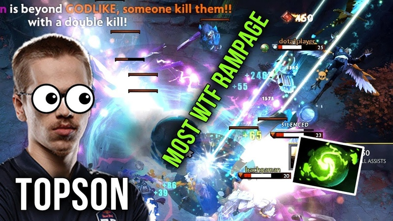 OG.Topson OD MOST WTF Rampage Combo with Refresher Instant 5 Man Kill - Teamwipe Dota 2