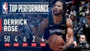 Derrick Rose Records A New CAREER HIGH 50 Points In Emotional Victory | October 31, 2018