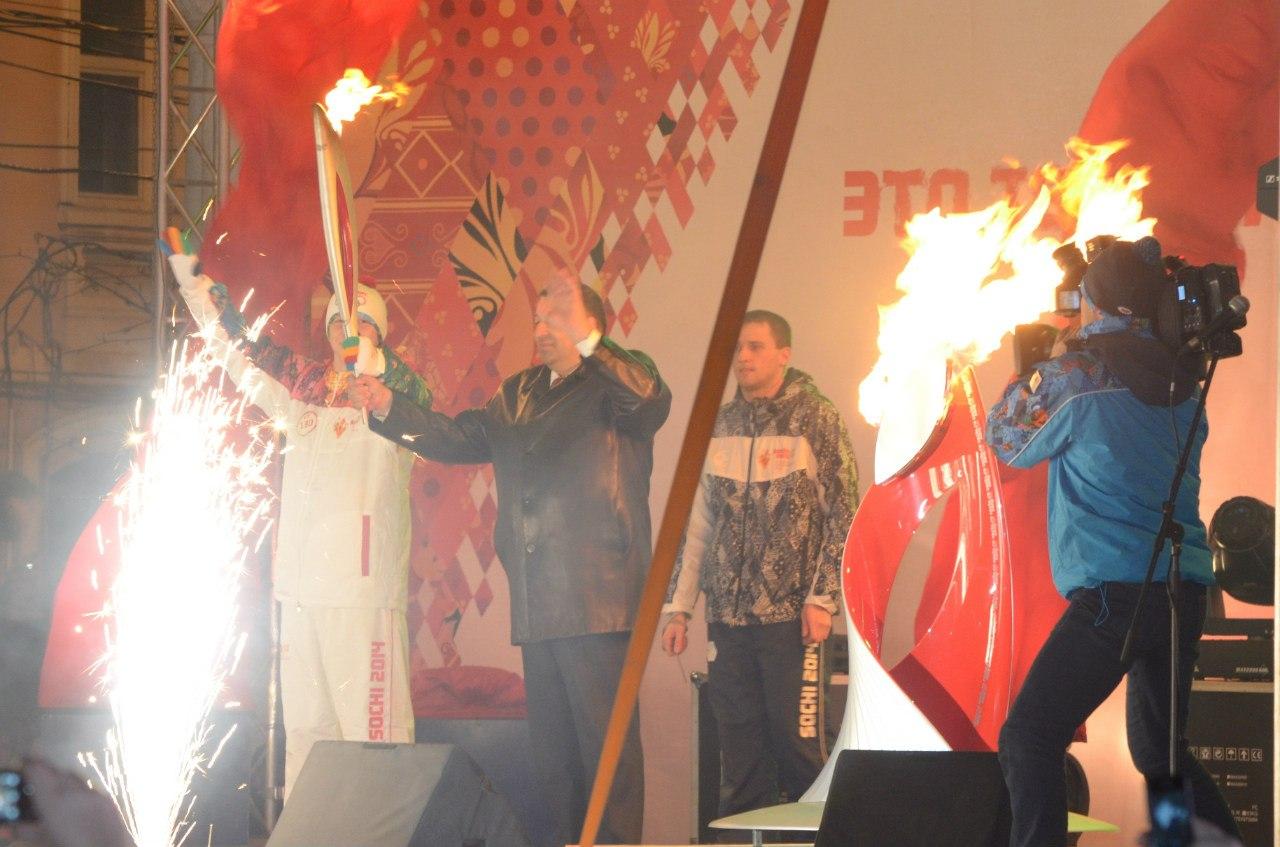 олимпийский огонь в Рязани