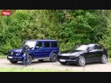 Mercedes-AMG G63 и Porsche Cayenne Turbo: драг и сравнительный тест