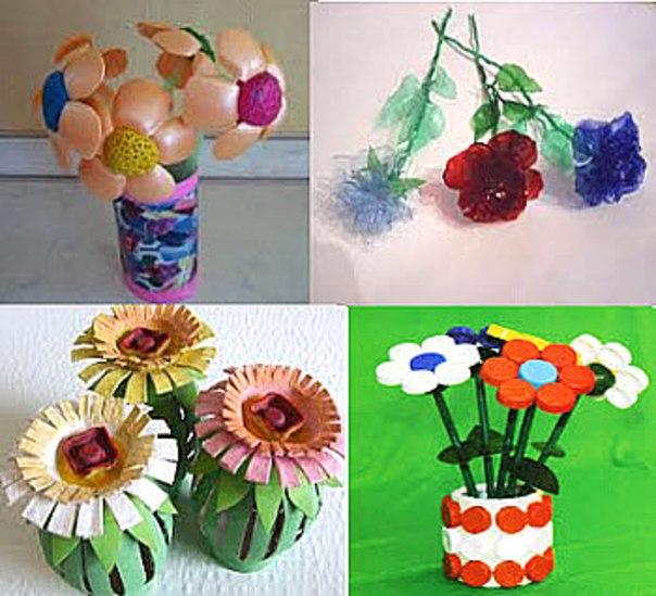 Поделки цветы своими руками из подручных средств в домашних условиях