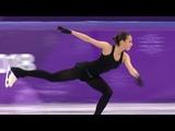 Alina Zagitova hits 5 triple jump 3lz3lo3lo3lo3lo combination in practice 2018 2 22