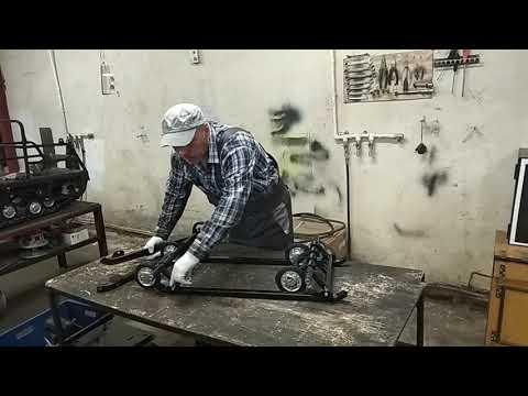 Установка склизовой подвески на мотобуксировщик