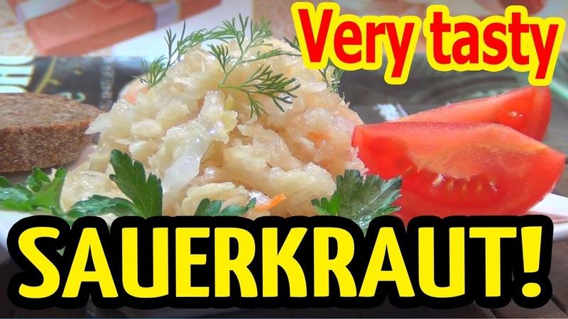 Sauerkraut in a jar! The best recipe for sauerkraut. Only cabbage, carrots and salt.
