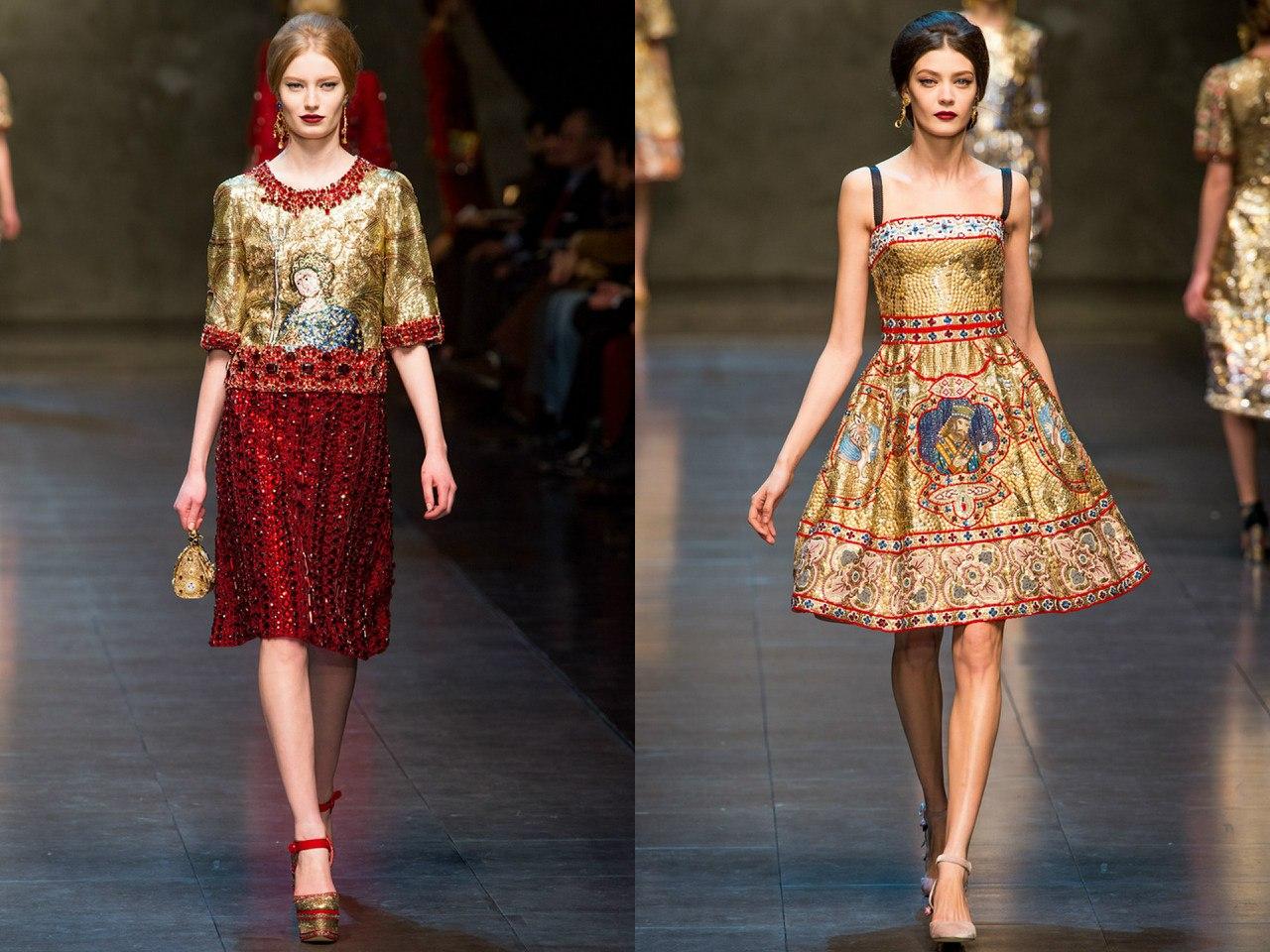 Dolce & Gabbana, осень-зима 2013/14
