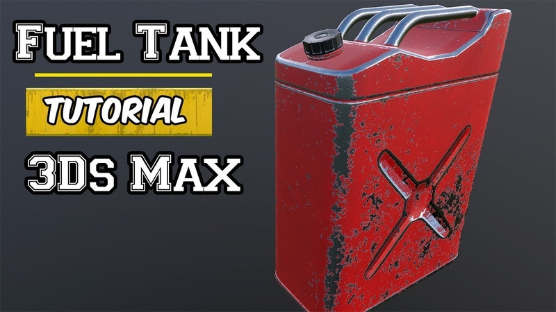 Modeling UV unwrapping and Texturing a Fuel Tank in 3Ds Max
