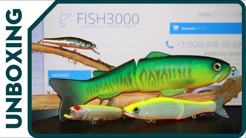 UNBOXING fish3000 Свимбейты DEPS 25 cm и DaiwaGan Craft, странный волкер и убойный минноу.