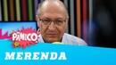 Vinheteiro questiona Alckmin sobre roubo de merendas escolares