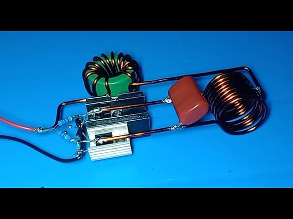 High current induction heater , Powerful induction heater using mosfet IRFZ44N