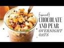 Spiced Chocolate Pear Overnight Oats Easy Vegan Breakfast