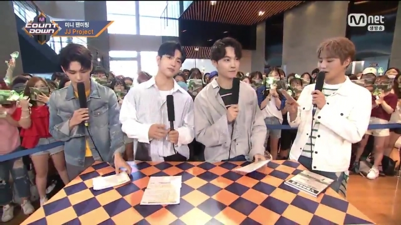[VIDEO] 170803 MCOUNTDOWN Mini Fanmiting with JJ Project