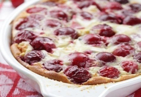ВИШНЕВЫЙ КЛАФУТИ Ингредиенты для вишневого клафути вишня — 3-4