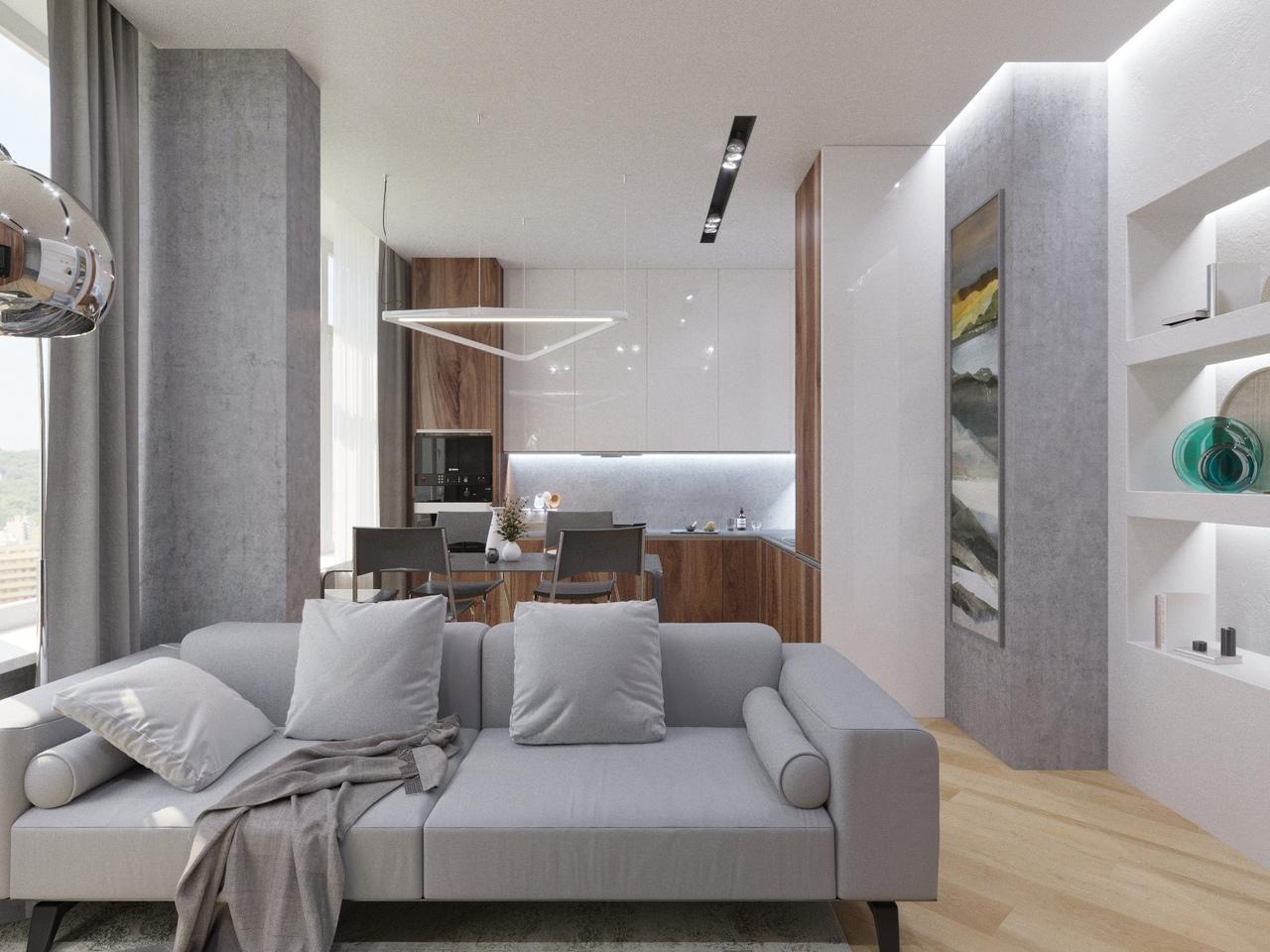 Дизайн квартиры площадью 103 кв.