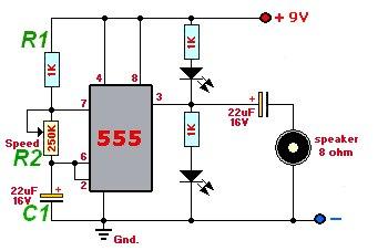 Желаю здравствовать.  Перед Вами на первой картинке схема электронного метронома, который я хочу собрать.
