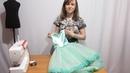 Как пошить Детское Платье! Сшиваем топ Платья с юбкой асимметричного покроя и делаем цветок Часть 3