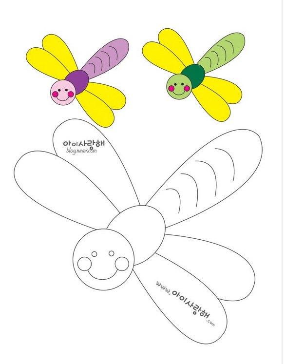 Бабочка из фетра выкройки своими руками 91