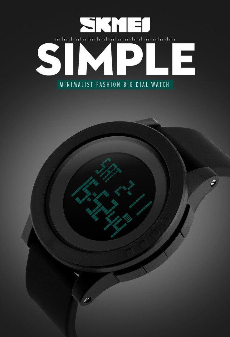 Мужские светодиодные водонепроницаемые часы Skmei 5540 заказов