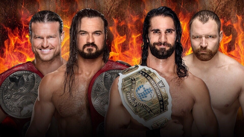 Dolph Ziggler(c) Drew McIntyre(c) vs Dean Ambrose Seth Rollins(c)
