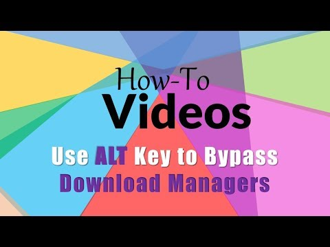 How to use ALT Key to Bypass Download Managers in Google Chrome