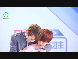 You hug him, kiss him, he won't get angry