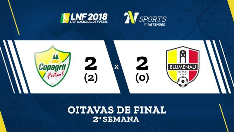 LNF2018 Copagril 2 2 x 0 2 Blumenau Gols Oitavas Volta