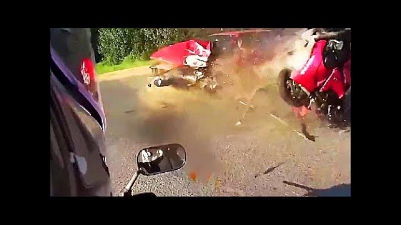 Авария мото и авто в замедленной съёмке(18)/ Никто не выжил/ Жесть