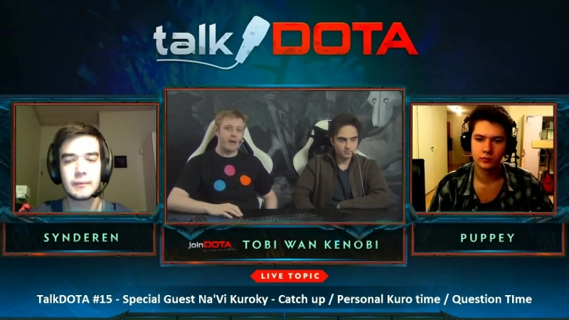 Kuroky and Puppey Interview talkDOTA 15