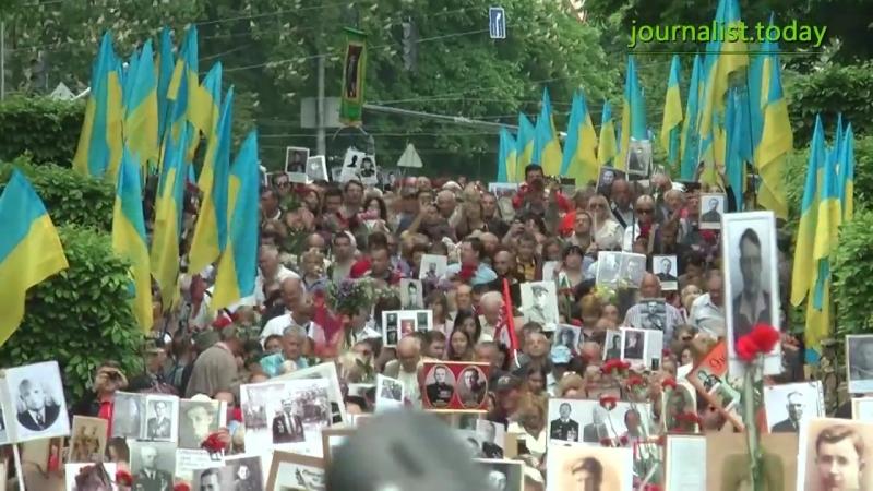 Киев. 9 мая, 2014. Подрались возле Парка Вечной Славы