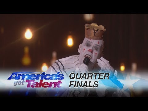 Puddles Pity Party: Silent Clown Performs Royals by Lorde - America's Got Talent 2017