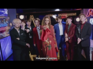 [RUS SUB][12.09.18] BTS and Tyra Banks Show Off Their