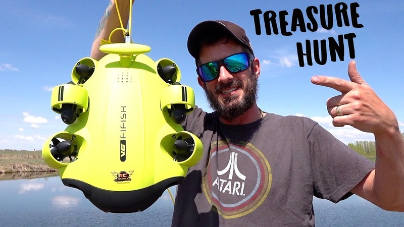 FIRST BACKYARD POND DIVE, EVER! Treasure Hunting w a FiFiSH V6 Underwater Camera Robot 2019 QYSEA