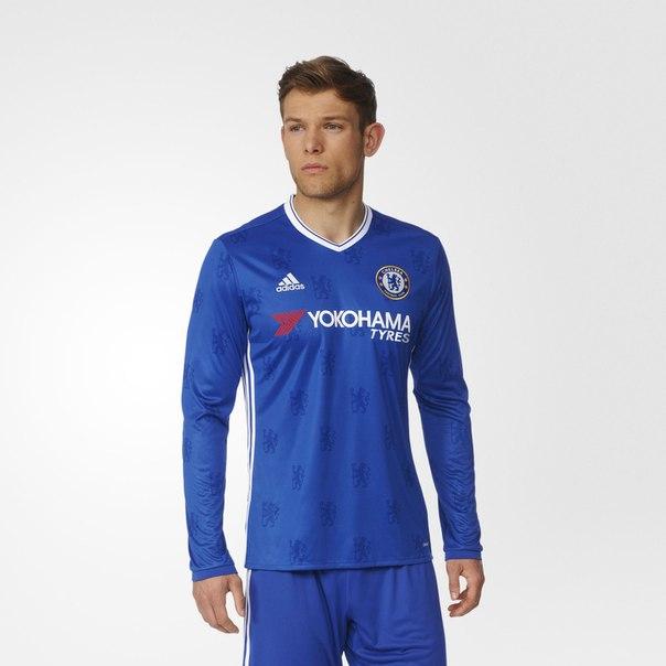 Домашняя игровая футболка Челси с длинным рукавом