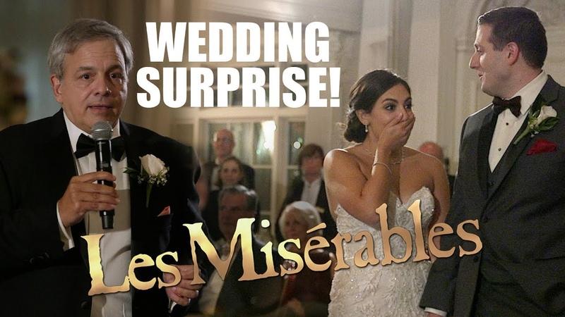 Surprise Wedding Les Misérables Musical Flash Mob! Watch the Bride's REACTION!