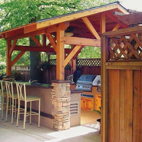 Идеи для кухни на открытом воздухе
