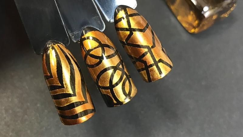 Дизайн ногтей: Геометрия пигментами Nails
