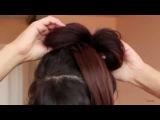 А вот Вы загадка Прическа Бант из волос Как сделать бант из волос своими руками, видео урок пошаго