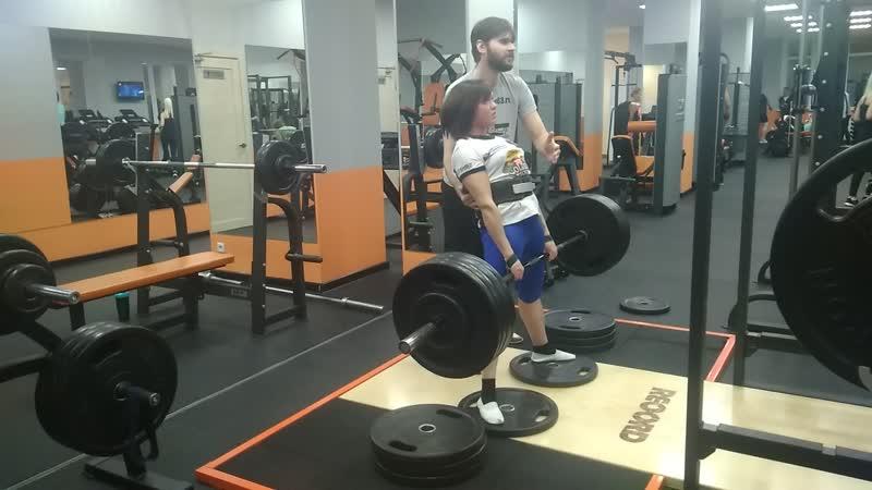 Сабина тяга 170 кг на 3 раза!