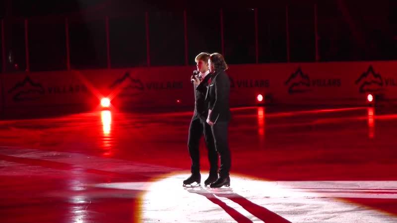Villars on Ice 2016 Deniss Vasiljevs Talk after the 2nd program