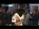 Giants Alen Hanson just scored from 1st on a wild pickoff throw to tie the game vs. the Cubs