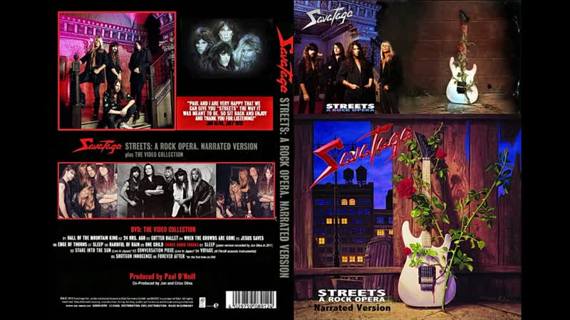 Savatage - Streets - A Rock Opera (Narrated Version Video Collection)